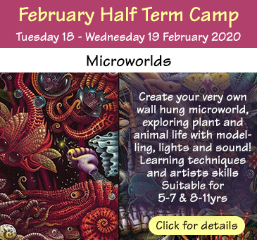 This term Kids Do Art release our inner David Attenborough to show you how to create the wonders of nature and the rich diversity of plant, animal, marine and insect life. These unique mico environments come with audio and lights so chioldren can use sound and illumination to create the feel and magic of the naturtal owrld. Children will learn model making skills that will enable them to contruct thier very own microwolrd in the form of a box framed relief panel that will be ready to wall hang. Lights ansd sound mechanisms are battery operated.. Suitable ages 5-7 and 8-11 years.